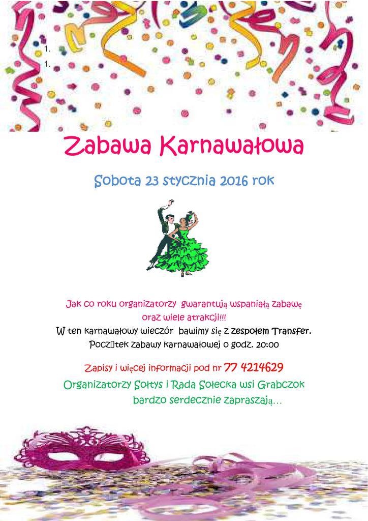 Zabawa Karnawałowa 2016- plakat.jpeg